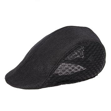 0ba8650b836 Half Duck Mesh Summer Gatsby Cap Mens Ivy Hat Golf Driving Sun Flat Cabbie  Newsboy (