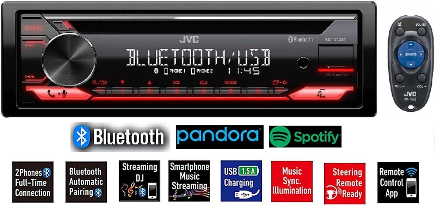 JVC KD-R792BT Single-Din Bluetooth Car Stereo