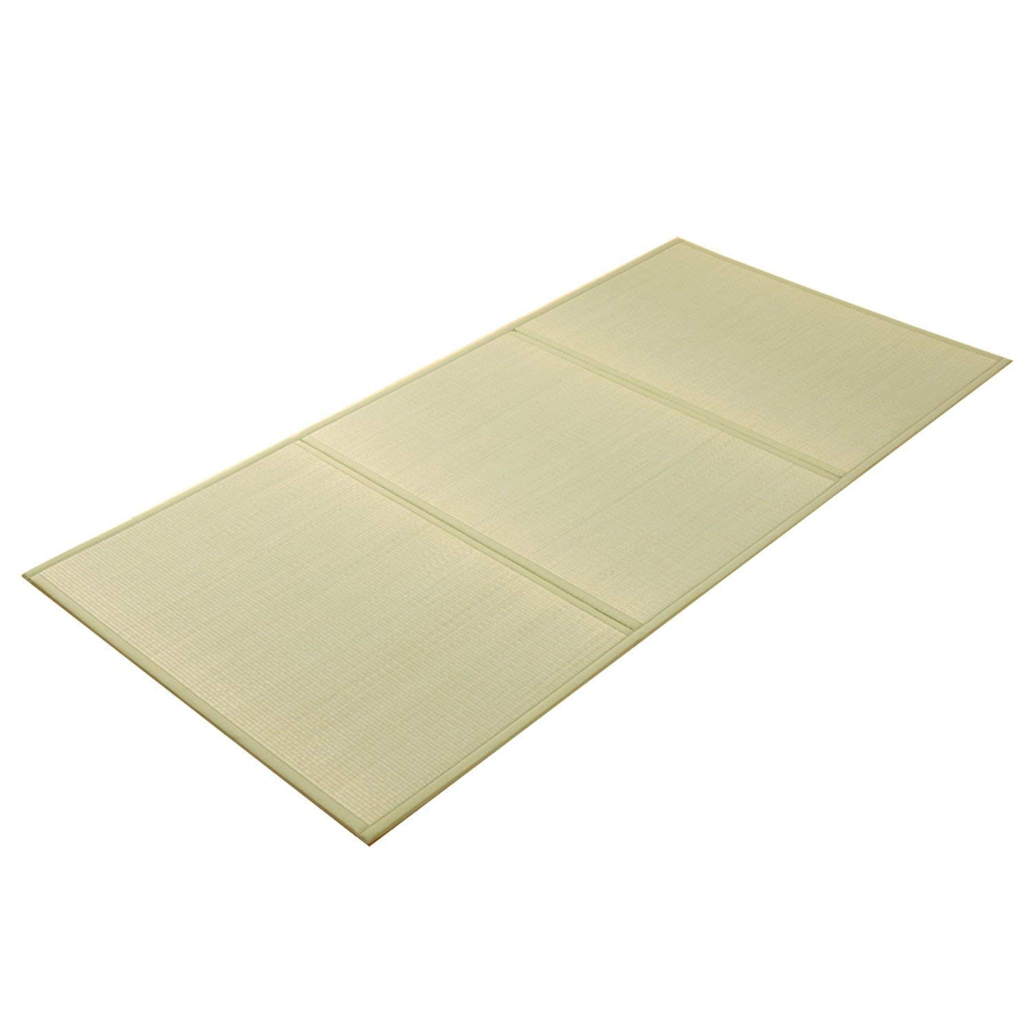 IKEHIKO Folding Rush Grass Mattress Tatami Mat 120 x 210 cm by IKEHIKO