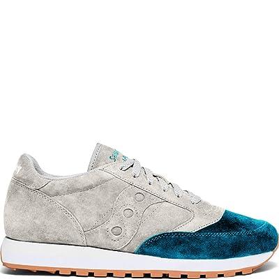 Saucony Originals Jazz Original Suede Grey/Teal 6 | Fashion Sneakers