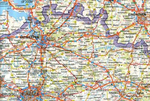 Benelux. Bélgica, Holanda y Luxemburgo, mapa de carreteras. Escala 1:500.000. Freytag & Berndt.: Wegenkaart 1:500 000 Auto karte: Amazon.es: VV.AA.: Libros