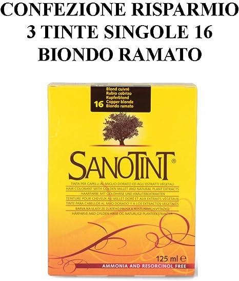 SANOTINT Tinte clásico color 16 rubio cobre – 3 paquetes – 3 ...