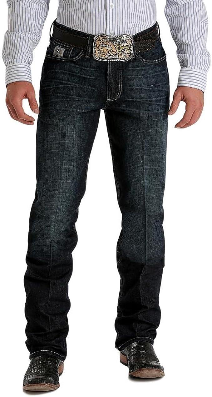 Cinch Western Denim Jeans Men Silver