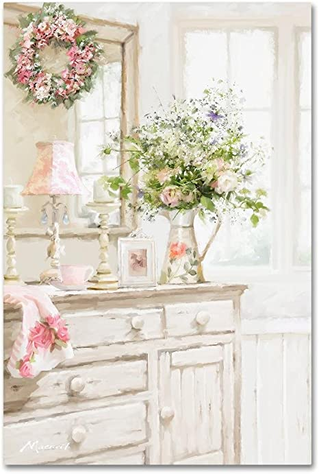 Amazon Com Shabby Chic By The Macneil Studio 30x47 Inch Canvas Wall Art Posters Prints