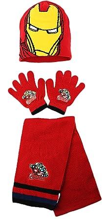 1cc6fab210b5e Marvel The Avengers Kids Winter Hat Scarf and Gloves Set  Amazon.co.uk   Clothing