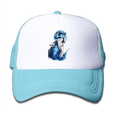 Galaxy Wolf Girls Mesh Caps Adjustable Baseball Cap