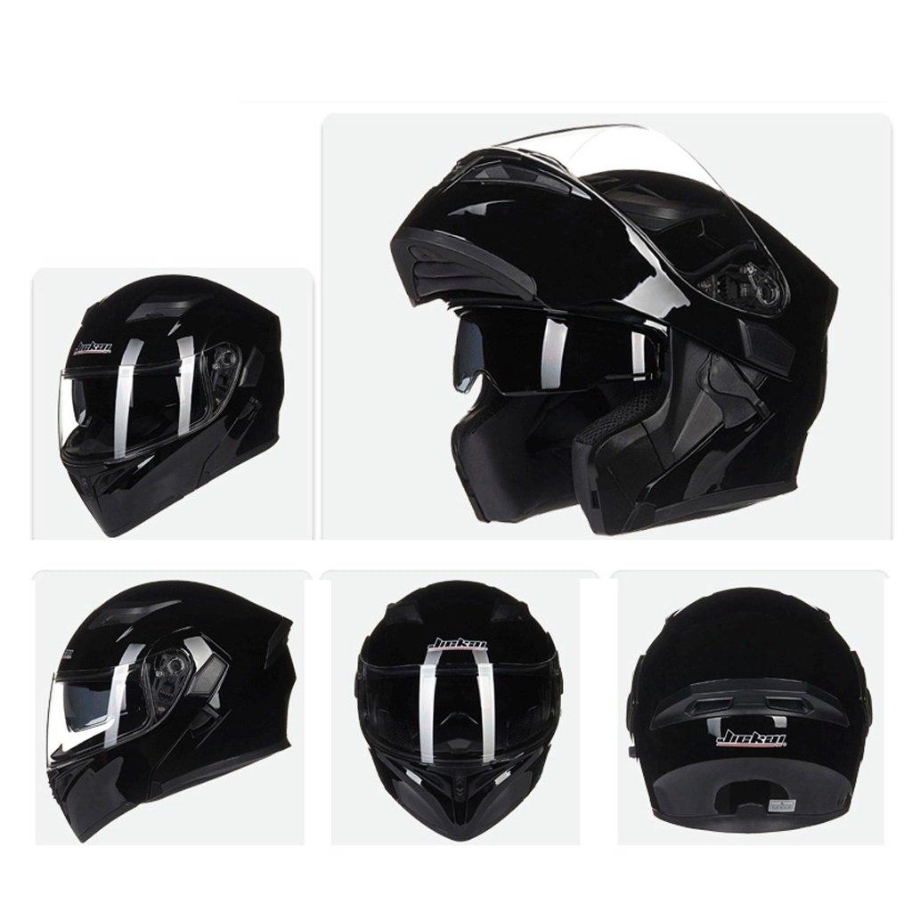 DGF ヘルメットダブルレンズオープンフェイスヘルメットオートバイ機関車トラムプロフェッショナルレーシングスポーツライト快適な多色オプションの男性と女性 (色 : C, サイズ さいず : M) B07FNRN1BR Medium|C C Medium