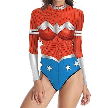 QQWE Wonder Woman Cosplay Traje de baño Traje de baño Traje ...