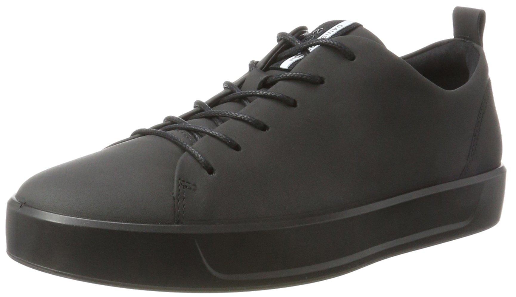 ECCO Men's Soft 8 Tie Fashion Sneaker, Black, 44 M EU / 10-10.5 D(M) US by ECCO
