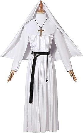 Amazon Com Nuoqi Disfraz De Mujer Para Halloween Color Blanco Talla Grande Clothing