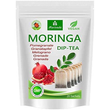 Té de Moringa 100% natural y vegano (opcionalmente Moringa-mezcla de hojas,