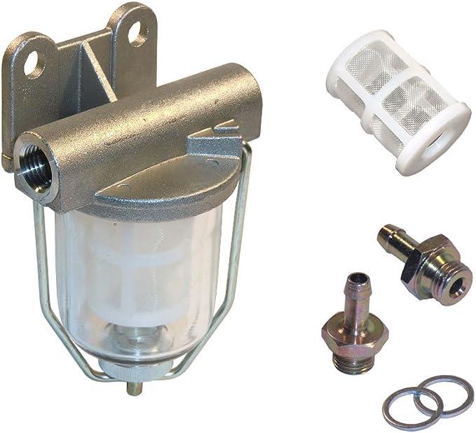 Kraftstoff Vorfilterset Mit Schauglas Ersatzfilter Und Anschlussverschraubung 8 Mm Pi8617 Kt8 Auto