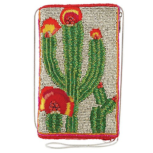 MARY FRANCES Beaded Crossbody Phone Bag (High Desert)