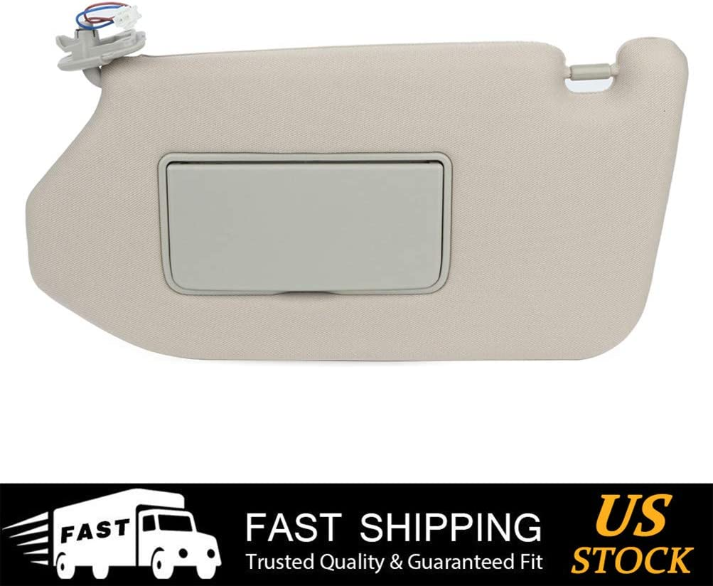 Eapmic Left Driver Side Sun Visor with Light Fit for 2013-2018 Nissan Pathfinder 2013 Infiniti JX35 2014-2017 Infiniti QX60 with Sunroof 96400-9PB0A