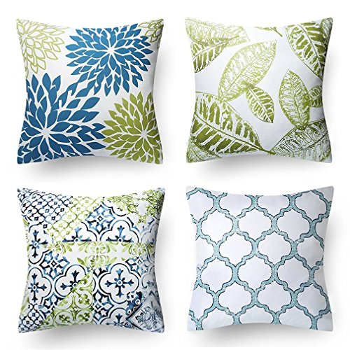 Throw Pillow Cover, Onker Cotton Linen Square Decorative Throw Pillow Case Cushion Cover 18