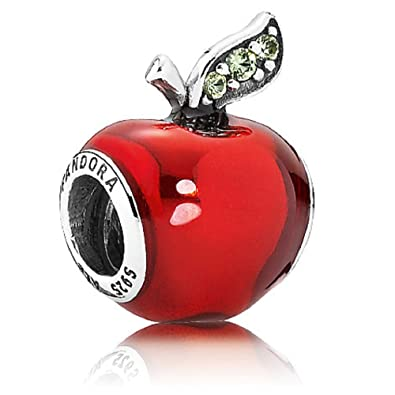 59249354f Amazon.com: PANDORA DISNEY SNOW WHITE'S APPLE TRANSPARENT RED ENAMEL ...