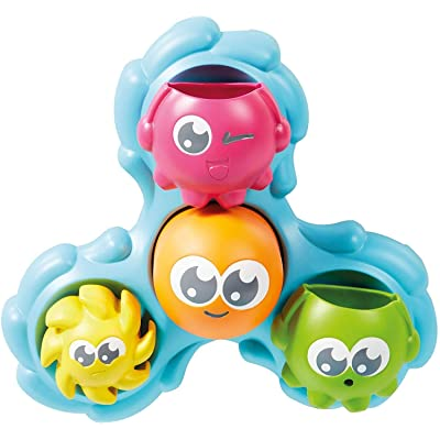 Toomies Tomy Spin & Splash Octopals Toddler Bath Toy - You Pour and They Spin & Splash: Toys & Games