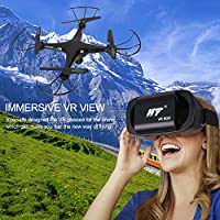 VR Drone with Camera Live Video,JT Drone Remote Control Flying Drone with VR Headset,3D Flip,Auto Return,Altitude Hold Function,Easy to Fly for Beginners
