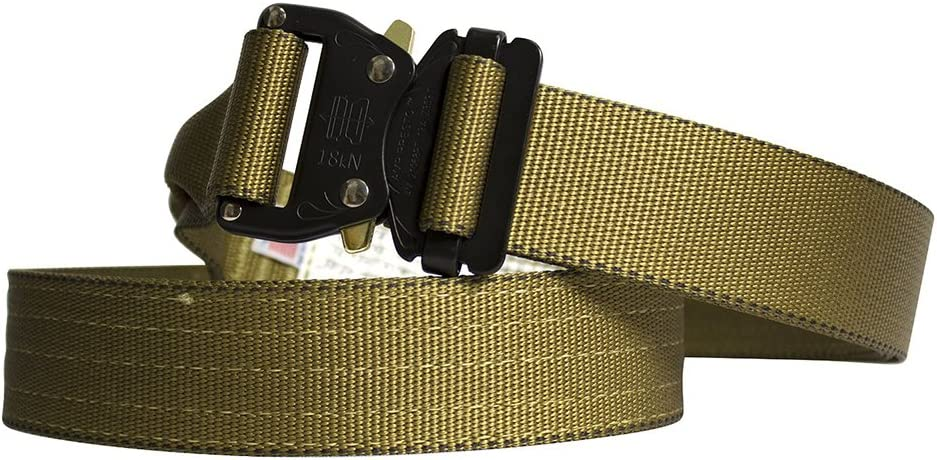 """Fusion Tactical Military Police Riggers Belt Coyote Brown Small 28-33""""/1.75"""" Wide"""