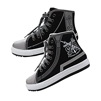 Sword Art Online Canvas Shoes Cosplay Shoes Sneakers White/Black