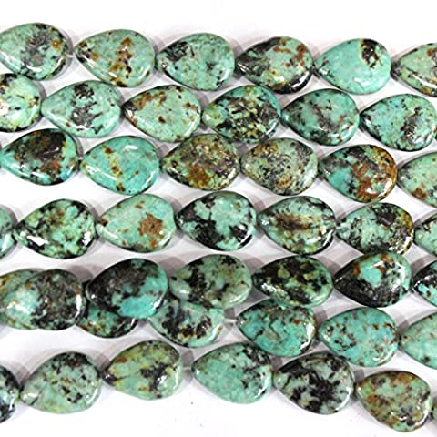fashiontrenda Natural African Turquoise Teardrop 1014mm Findings Jewerlry Making Gemstone Beads - Turquoise Tear