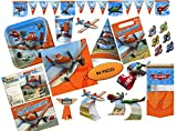 Disney Planes Birthday Party Supplies - Dinner Plates, Cups, Napkins, Invitations, Tablecover, Hats, Blowouts + More! 94-Pieces with Dusty, Chupacabra, Ripslinger and More from Disney Planes Movie