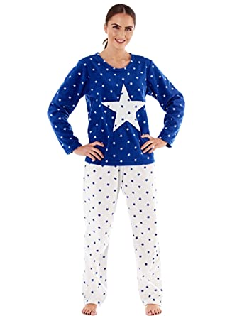 b05f581248baa Ladies Womens Star Print Micro Super Soft Fleece Pyjamas By Selena Secrets  LN662: Amazon.co.uk: Clothing