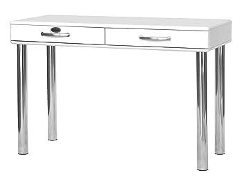 Tenzo Schreibtisch Holz 79 X 120 X 50 Cm Weiß Amazonde Küche