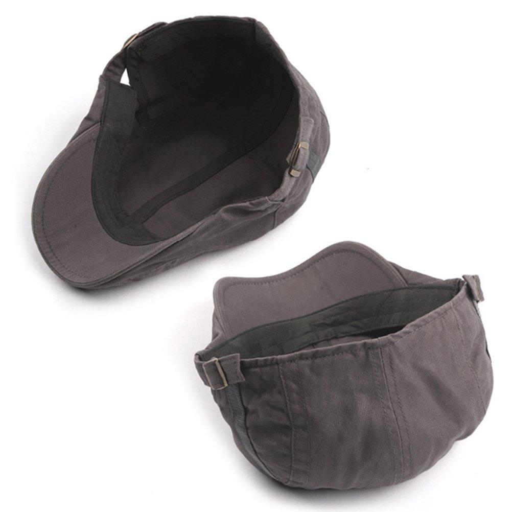 Zhuhaitf Mens Ladies Cotton Flat Hat Retro Cabbie Newsboy Beret Ivy Cap Headwear