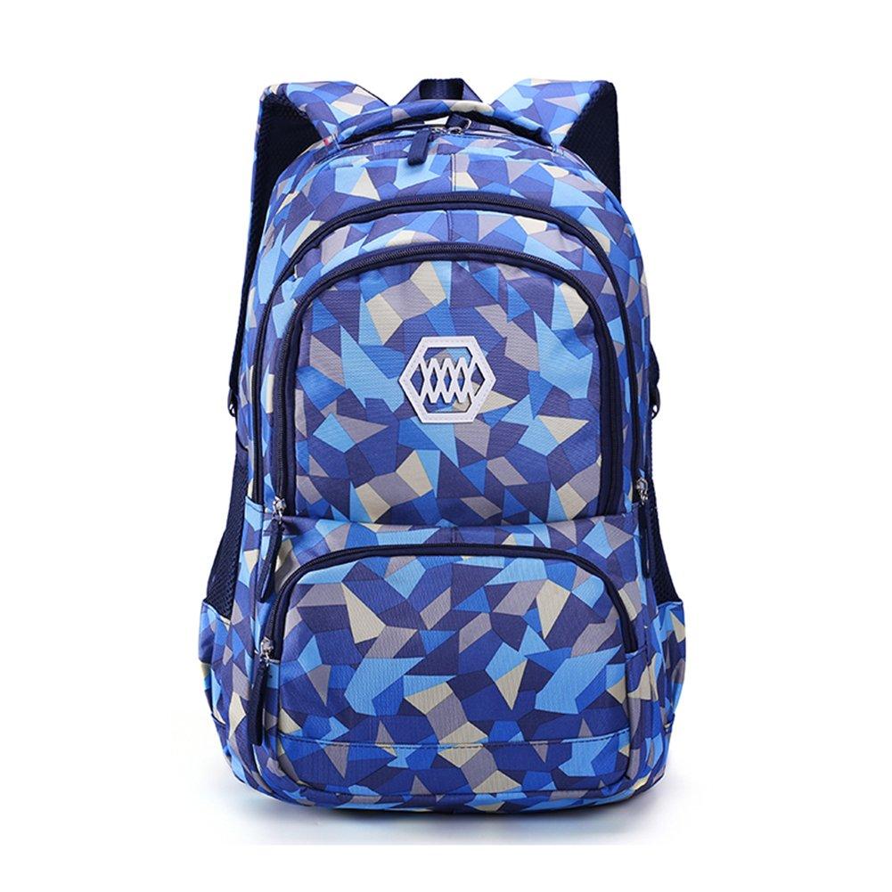 Fanci Geometric Figure Primary School Backpack Book Bag for Girls Boys Travel Rucksack Daypack