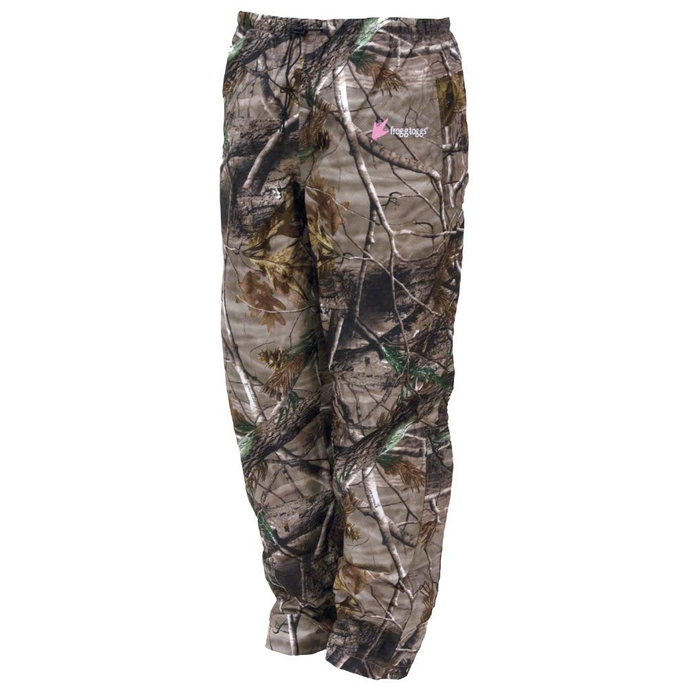Frogg Toggs Women's Pro Action Waterproof Rain Pant, Realtree Xtra, Large by Frogg Toggs