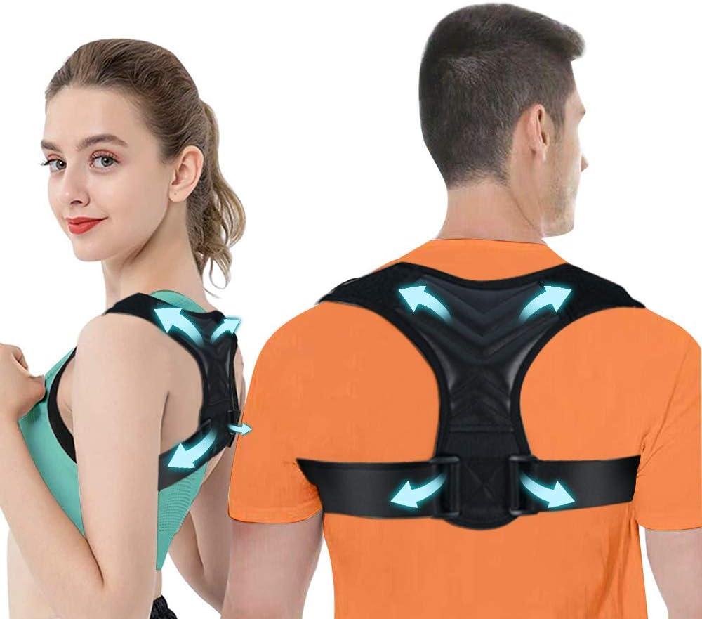 iThrough Corrector Postura Espalda, Corrector de Espalda y Hombro para Hombre y Mujer, Talla Asjustable Corrector de Postura Espalda Recta Transpirable