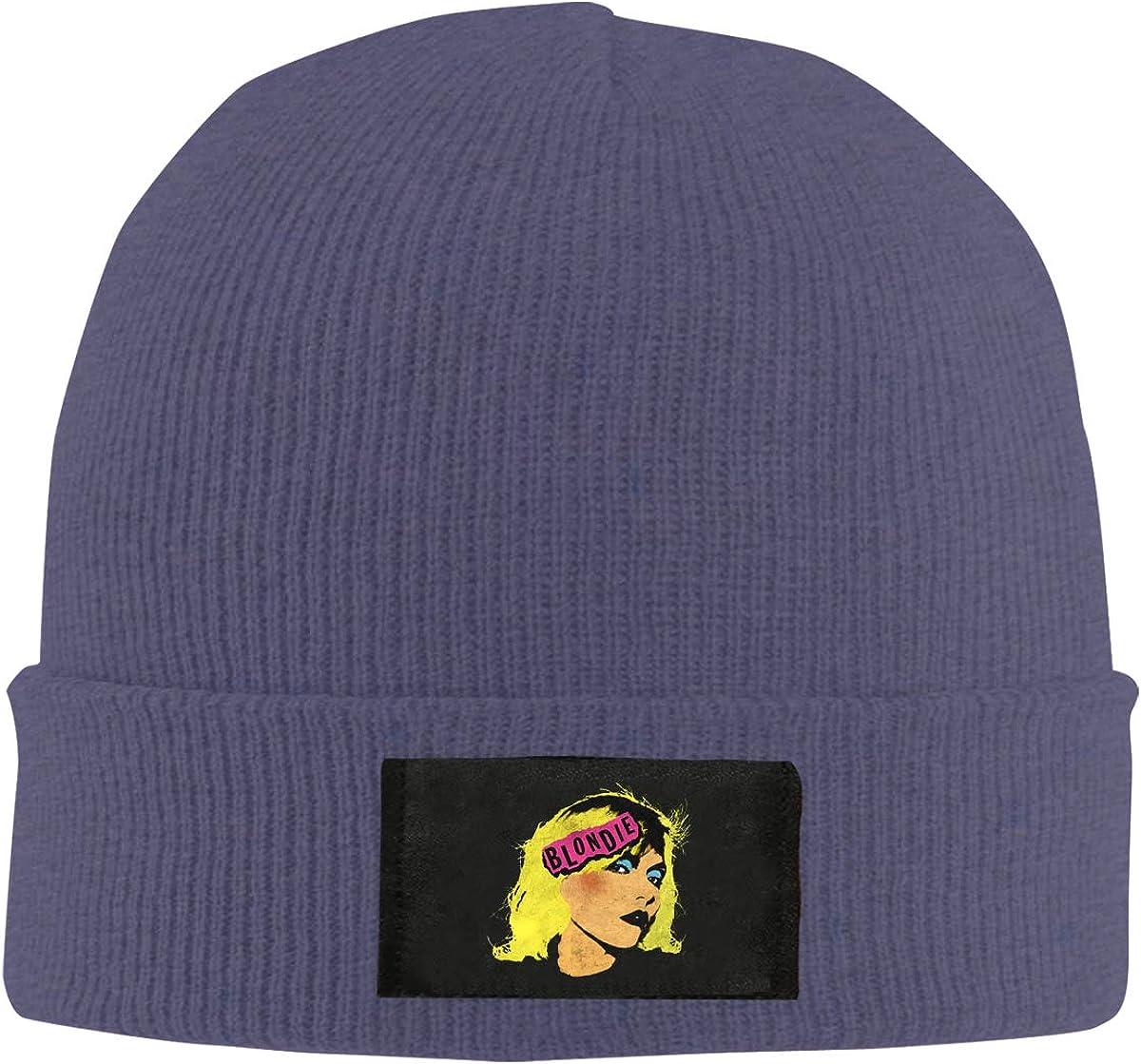 Wanmei Wild Knitted Hat Blondie Hut Aus Wolle Black