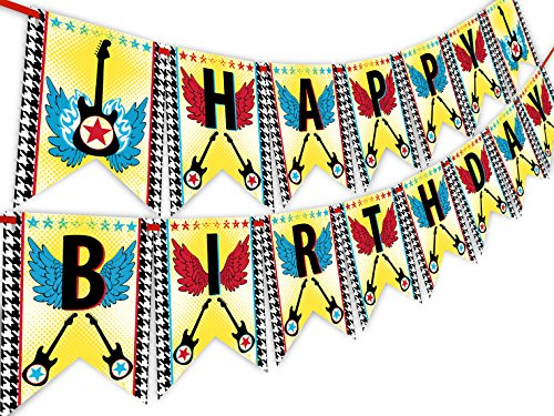 POP parties Rock Star Happy Birthday Banner