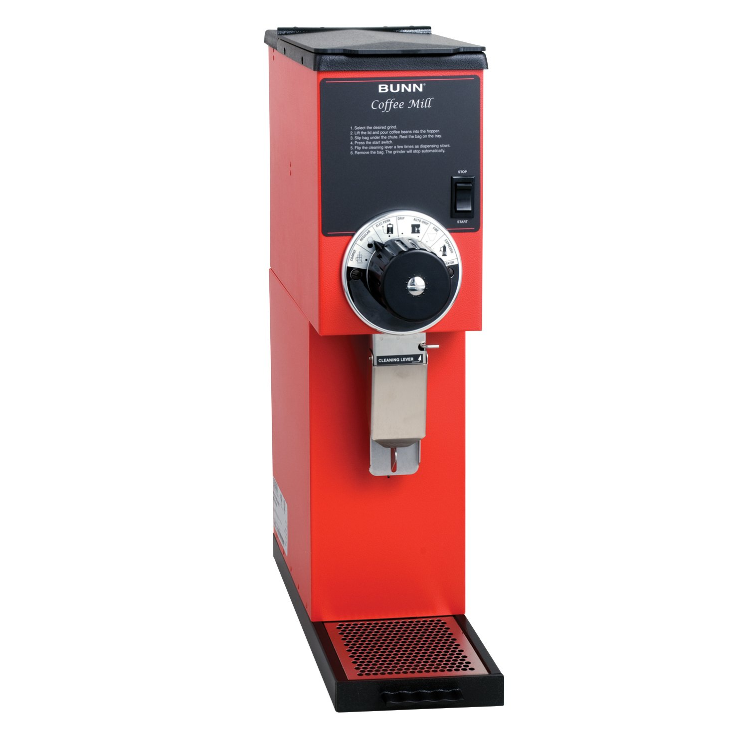 BUNN 22102.000100000001 G2 Bulk Coffee Grinder, Red