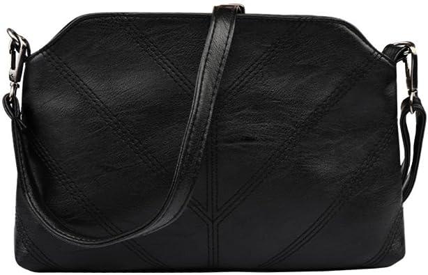 AgrinTol Fashion Womens Leather Satchel Shoulder Messenger Bag Handbag Women Crossbody Leather