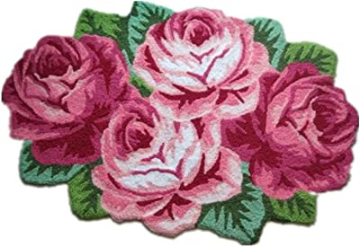 Amazon ustide modern style rug soft rose rug handmade rug anti hughapy country style handmade rug anti slip modern carpet living room area rugs 4 rose mightylinksfo