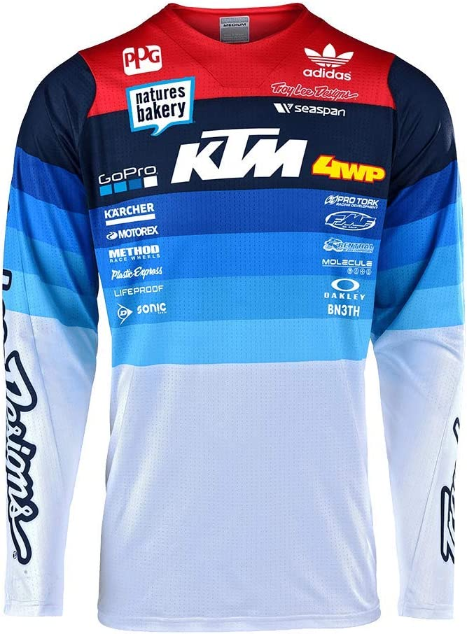 Medium, White SE Pro Limited Edition Mirage Team Jersey Motocross Troy Lee Designs Mens Offroad