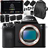 Sony Alpha a7S Mirrorless Digital Camera with Atomos Ninja Flame 7 4K HDMI Recording Monitor 11PC Accessory Bundle – Includes Deluxe Backpack + MORE