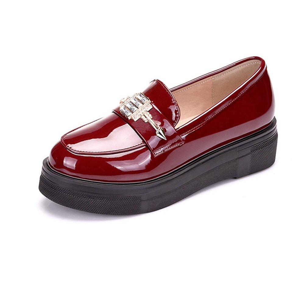Femme Cuir De Gothique Enfiler Simple À Amazon Chaussure Plateforme wtrwgqp7
