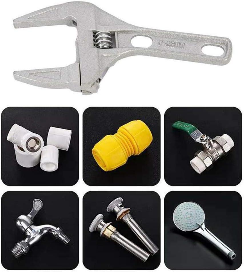 Aluminum Alloy Hand Tools Wrench Adjustable IWILCS 6-68mm Cl/é anglaise ajustable Outillage /à main Cl/és Spanner Wide Jaw Wrench Cl/és /à molette Bricolage Outillage /à main et /électroportatif
