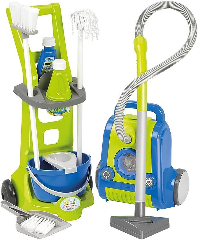 Set de limpieza con carrito, aspirador y accesorios (Ecoiffier 1770): Amazon.es: Juguetes y juegos