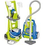 Clean Home Trolley delle pulizie e aspirapolvere 10 pz