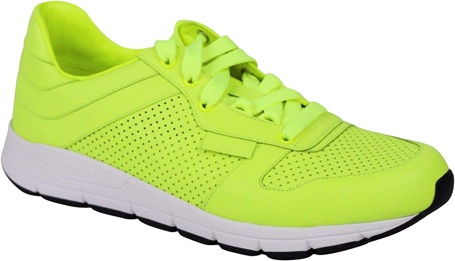Gucci Men's Lace up Neon Yellow Leather