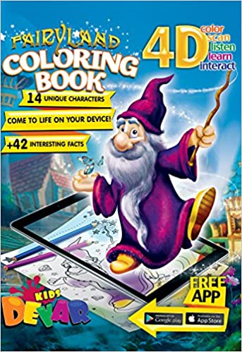 Devar Kids Augmented Reality libro de colorear Fairy Land Coloring ...