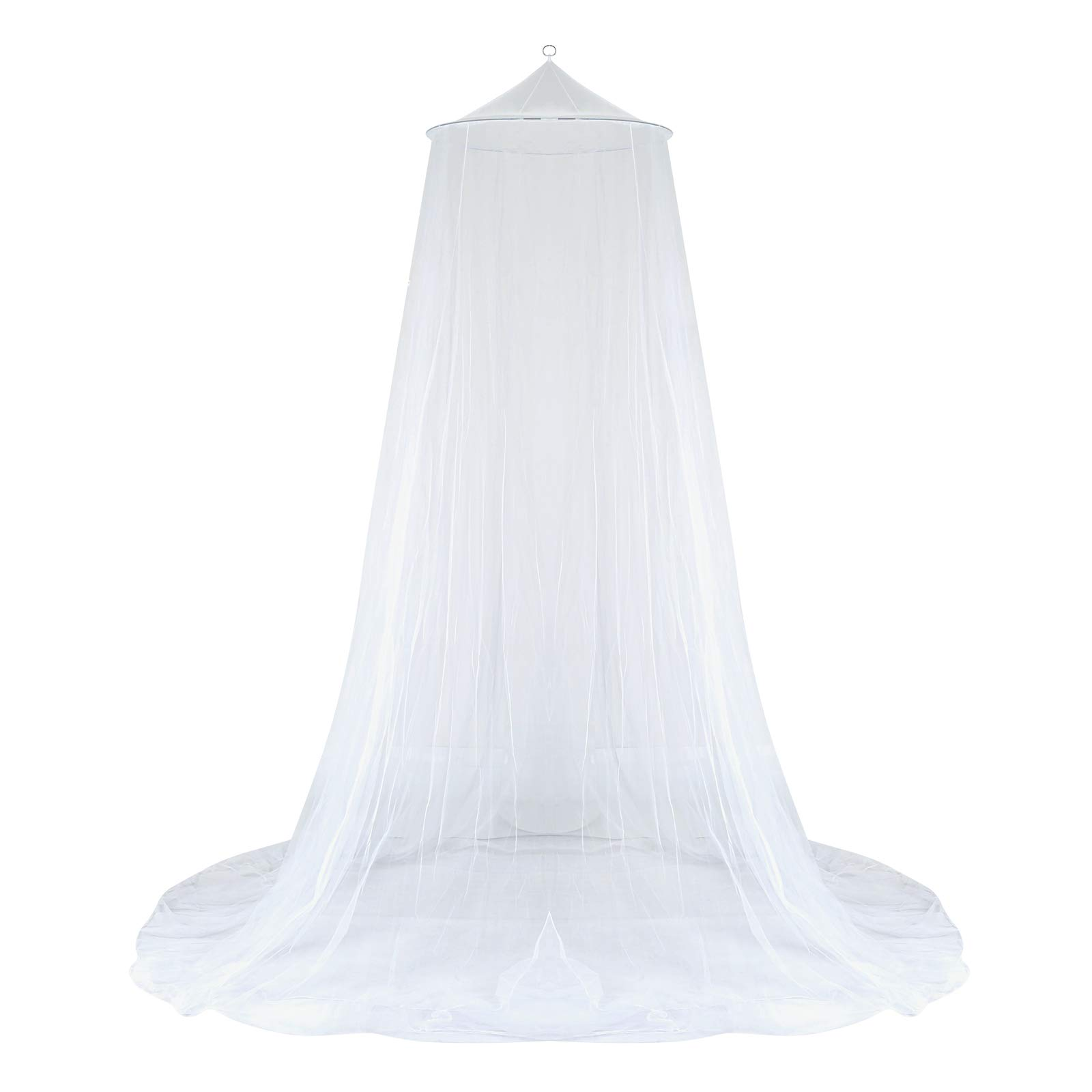 GWHOLE Mosquito Net Bed Canopy for Single to King Size Beds,White