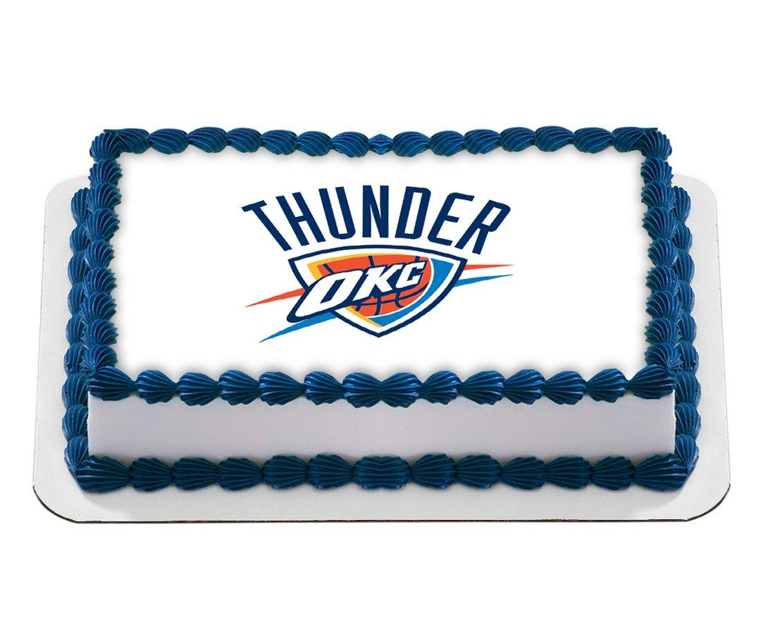Oklahoma City Thunder Edible Cake Image NBA Basketball Birthday Cake ...