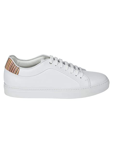 comprare on line 032ac df116 Paul Smith Sneakers Uomo M1SBAS14ATRI01 Pelle Bianco: Amazon ...