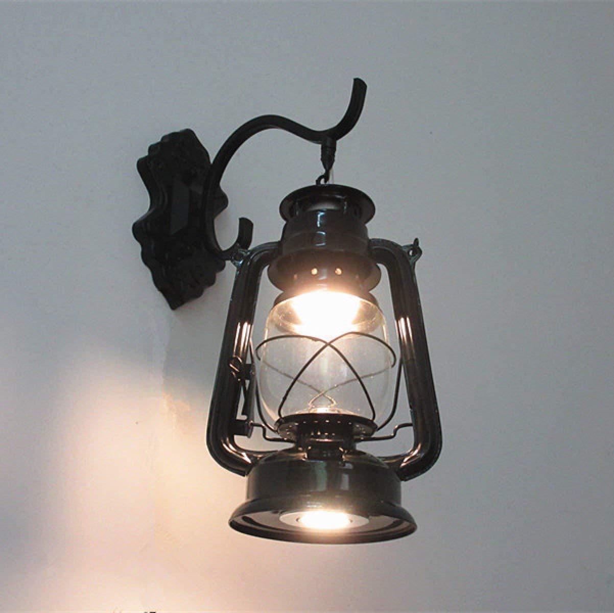 Chuiqingwang アイアンアンティークホースランプウォールランプレトロノスタルジックアイアンウォールランプ (Color : A) B07S68W8HQ A