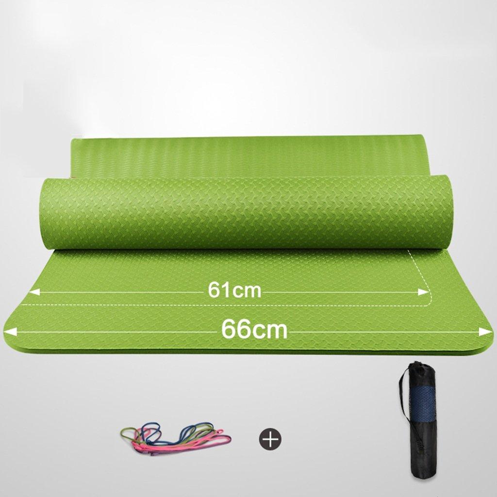 vert 8MM YJD 183cm  66cm débutants Tapis de Yoga Hommes et Femmes Tapis de Sport Tapis de Fitness